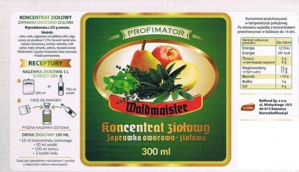 Zaprawka owocowo - ziołowa Waldmeister 300ml