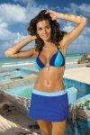 Plážová sukně Marko Meg Regatta-Fata M-266 safírovo-světle modrá