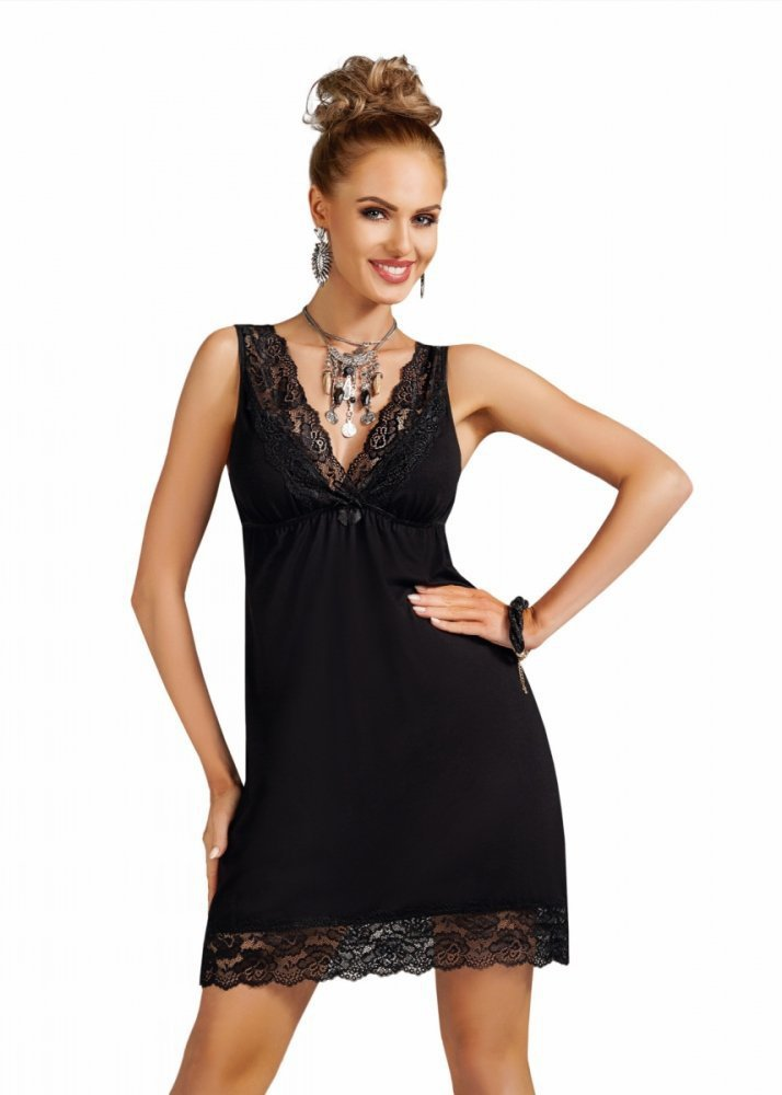 e166e90c651 Donna Nadia black Noční košile - Noční košile - Noční prádlo