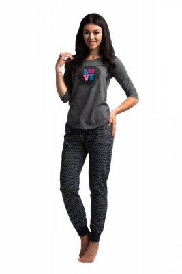 Rossli SAL-PY-1024 grafit Dámské pyžamo