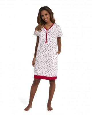 Cornette Red Shoes 637/149 Noční košilka