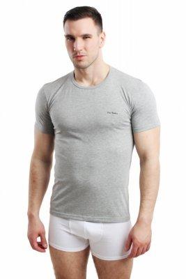 Pierre Cardin Rneck šedý Pánské triko