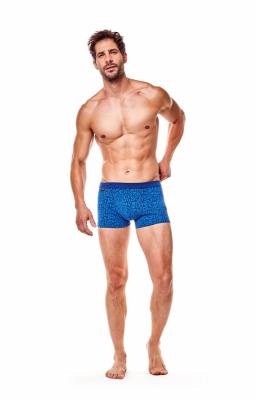 Henderson Fancy 36189-59X 2ks Tmavě modré a šedé Pánské boxerky