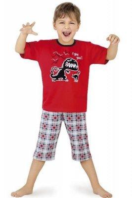 Cornette 541/17 Červené Chlapecké pyžamo