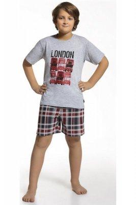 Cornette 790/36 Šedé Chlapecké pyžamo