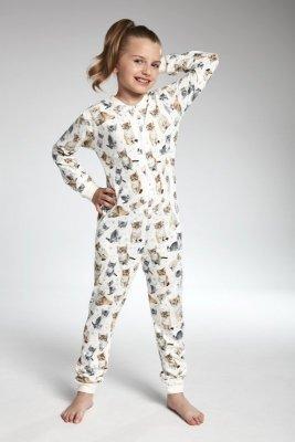 Cornette 105/100 Lovely cats 3 ecri Dívčí pyžamo