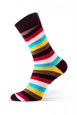 Sesto Senso Finest Cotton pruhy/pruhy Ponožky