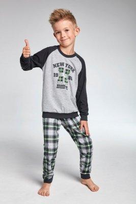Cornette kids 179/86 New york Šedé Chlapecké pyžamo