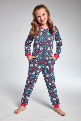 Cornette 105/104 owl 2 overal tmavě modré Dívčí pyžamo