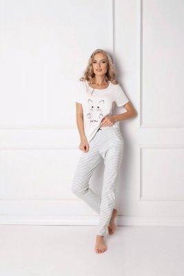 Aruelle Catwoman Long White Dámské pyžamo