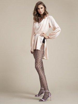 Fiore Claudia Black-Pink 20 DEN Punčochové kalhoty