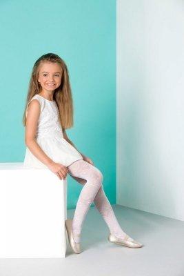 Gabriella 762 lila bílé Dívčí punčocháče