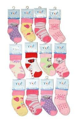 YO! Girls SKF Frotte Wywijane ABS 14-20 A'12 mix, Dívčí ponožky