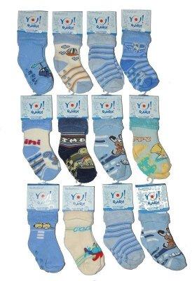 YO! Boys SKF Frotte Wywijane ABS 20-25 A'6 mix Chlapecké ponožky