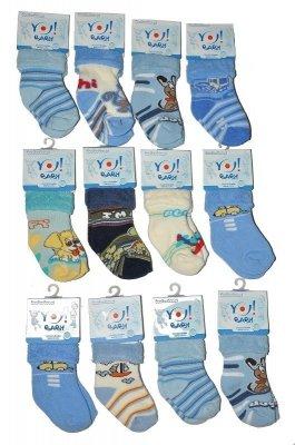 YO! Boys Frotte Wywijane 20-25  mix Chlapecké ponožky