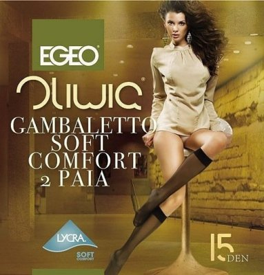 Egeo Oliwia Soft Comfort 15 den A'2 2-pack Podkolenky