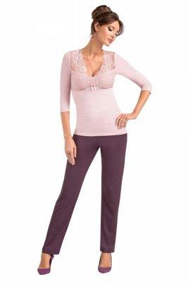 Donna Simone růžové Dámské pyžamo