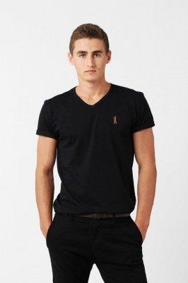 Orlovski V-Neck Black Pánské tričko