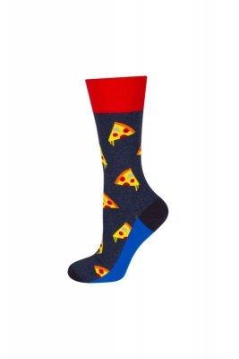 Soxo Good Stuff se vzorem - pizza Pánské ponožky