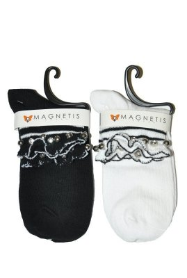 Magnetis 3004 Volánek, lesklé kamínky Ponožky