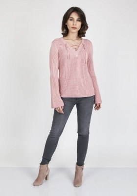 MKMSwetry Kylie SWE 117 pudrově růžový Svetr