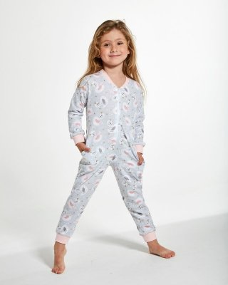 Cornette Kids Girl 384/136 Swan 2 86-128 Overal-dívčí pyžamo