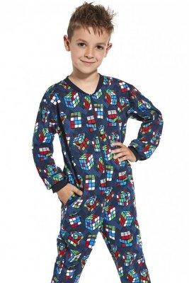Cornette Kids Boy 185/108 Cubes 86-128 Chlapecké pyžamo-overal