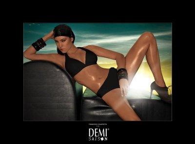 Plavky Demi Saison Lady Madonna černé