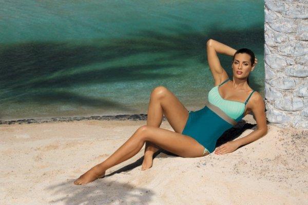 Dámské plavky Marko Whitney Curacao-Fata-Fango M-253 mořsko světle modré