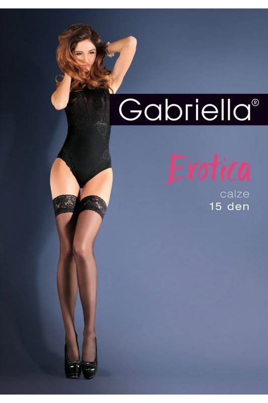 Gabriella 643 Erotica Calze Classic červené Punčochy - Punčochy ... 537897130c