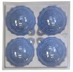 Bombki przezroczyste 10 cm 4 szt błękitne