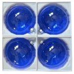 Bombki przezroczyste 12 cm 4 szt niebieskie