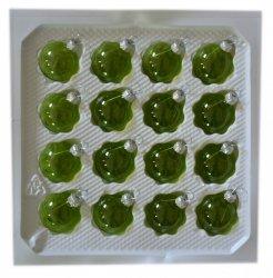 Bombki przezroczyste 3cm 16 szt zielone