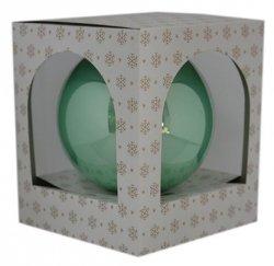 Bombka gładka duża 15 cm zielony opal