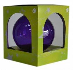 Bombka przezroczysta duża 15 cm fioletowa