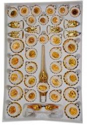 Zestaw39szt dekorowany reflektor złoty
