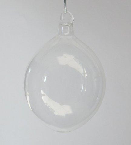Bombka jajo małe przezroczyste