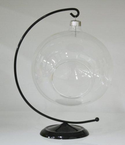 Bombka 12 cm przezroczysta z dziurą