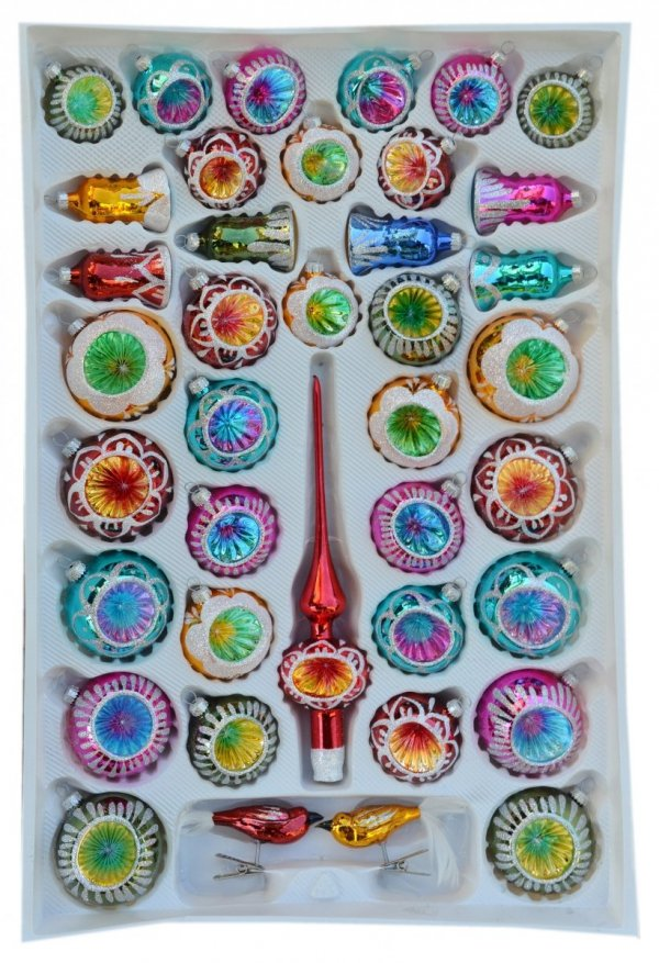 Zestaw dekorowany 39 szt reflektor mix kolorów