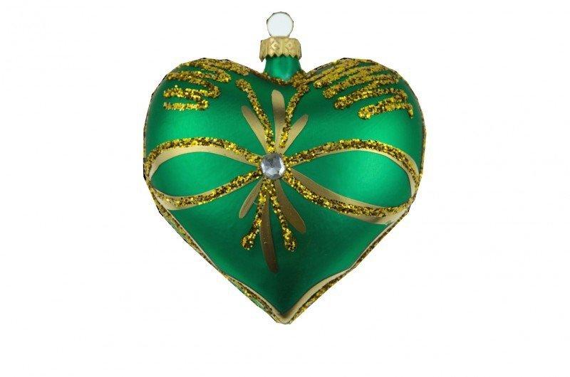 Serce zielone 9cm