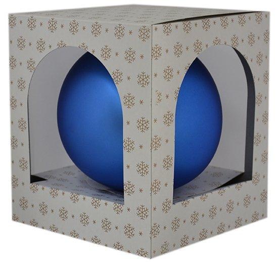 Bombka gładka duża 15 cm niebieski mat