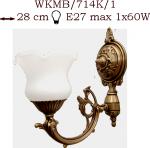 Kinkiet mosiężny JBT Stylowe Lampy WKMB/714K/1