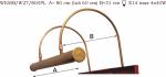 Kinkiet mosiężny JBT Stylowe Lampy WKMB/W27/800PL