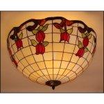 Plafon lampa żyrandol witraż ROSA 50cm