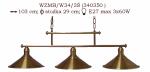 Żyrandol mosiężny JBT Stylowe Lampy WZMB/W34/3Ś/340350