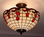 Plafon lampa żyrandol witraż ROSA 30cm