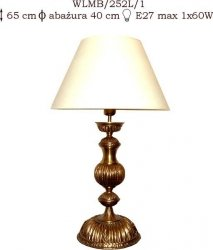 Lampka mosiężna JBT Stylowe Lampy WLMB/252L/1