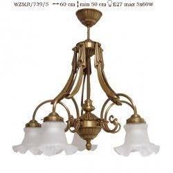 Żyrandol mosiężny JBT Stylowe Lampy WZMB/739/5