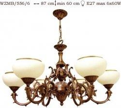 Żyrandol mosiężny JBT Stylowe Lampy WZMB/556/6