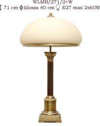 Lampka mosiężna JBT Stylowe Lampy WLMB/271/2+W